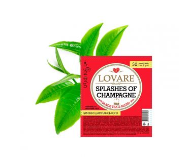 Чай фруктово-цветочный Чай  Ловаре Lovare Брызги шампанского пакетированный 50пак