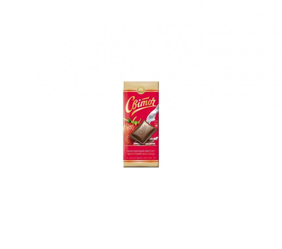 Свиточ Шоколад 85г Молочный Йогурт+Клубника