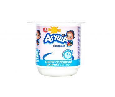Детская молочная продукция Творог Агуша сладкий 4,1% 100г ванна