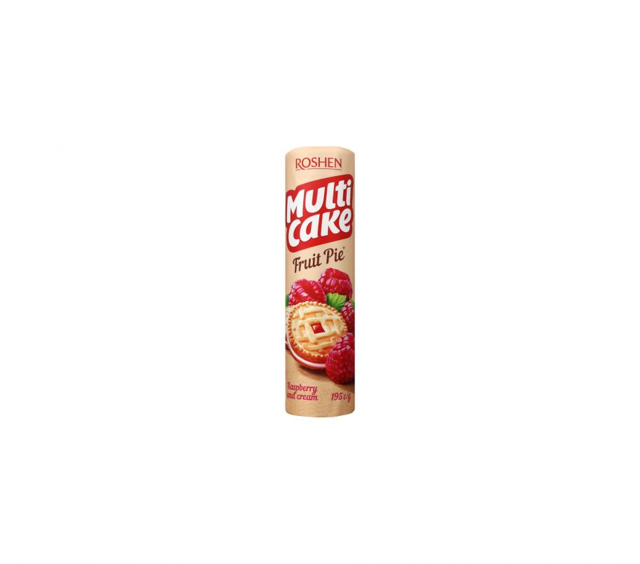 Roshen Multicake печенье-сендвич малина крем 195г
