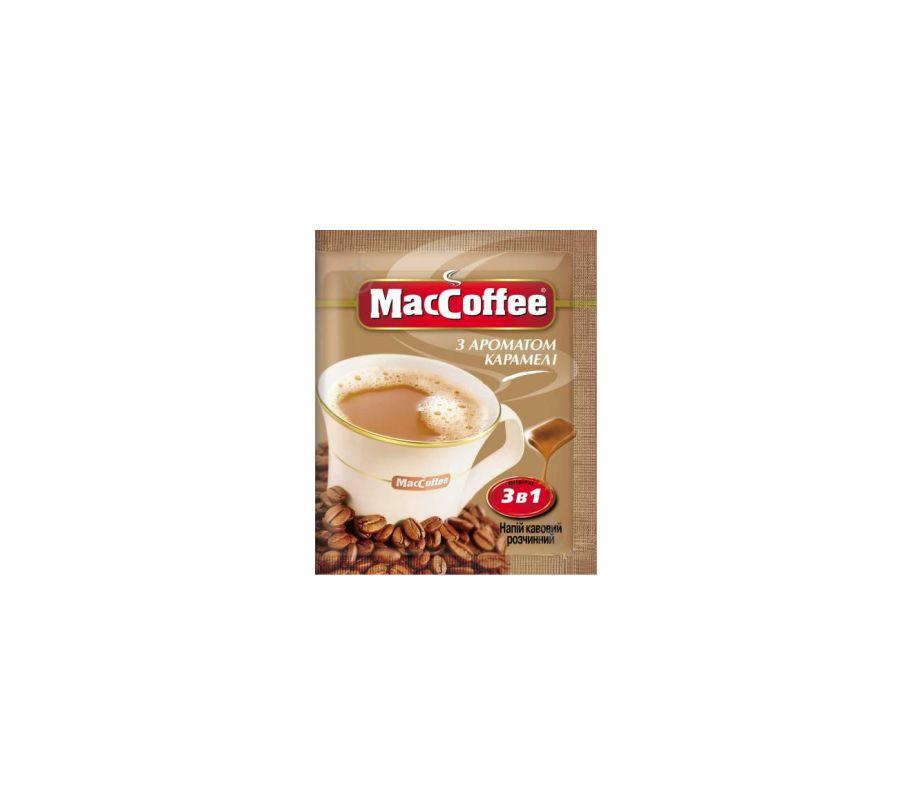 Maccoffee Пакет 3в1 Карамель 25шт
