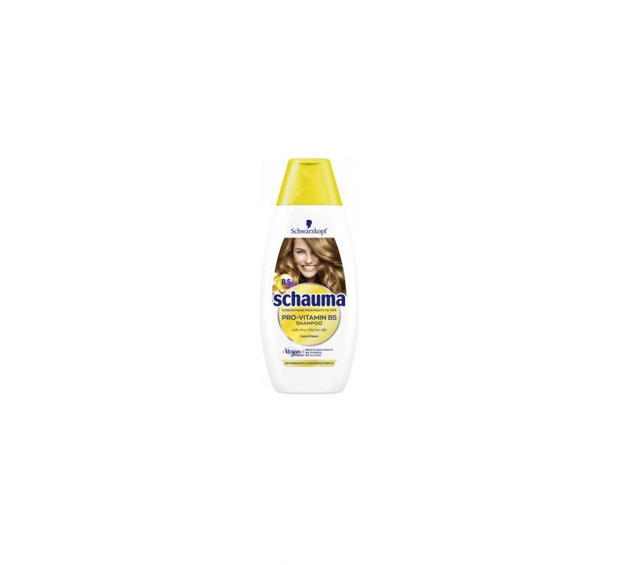 Шампунь Шаума Shauma Nature pro vitamin b5 400г  для нормальных и обессилиных волос