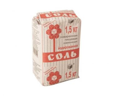 Соль, Мука, Сахар Соль йодированная 1,5 кг