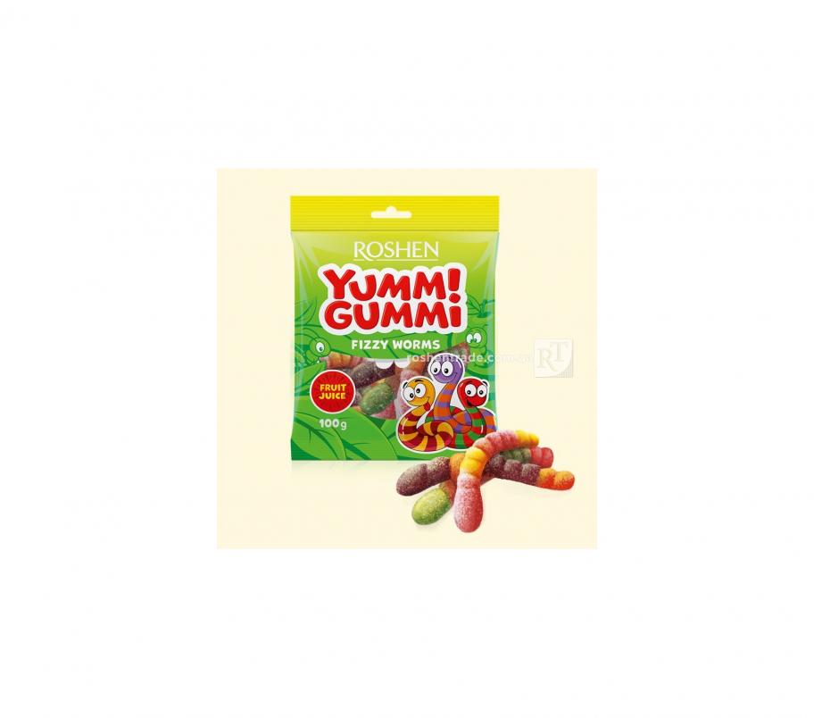 Roshen Желейные конфеты Fizzy Worms 100г