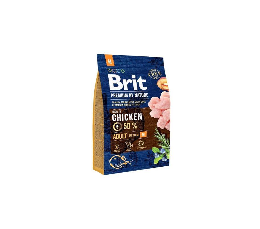 Brit Корм д/взросл собак Премиум ЭдалтМ курица сух 3кг