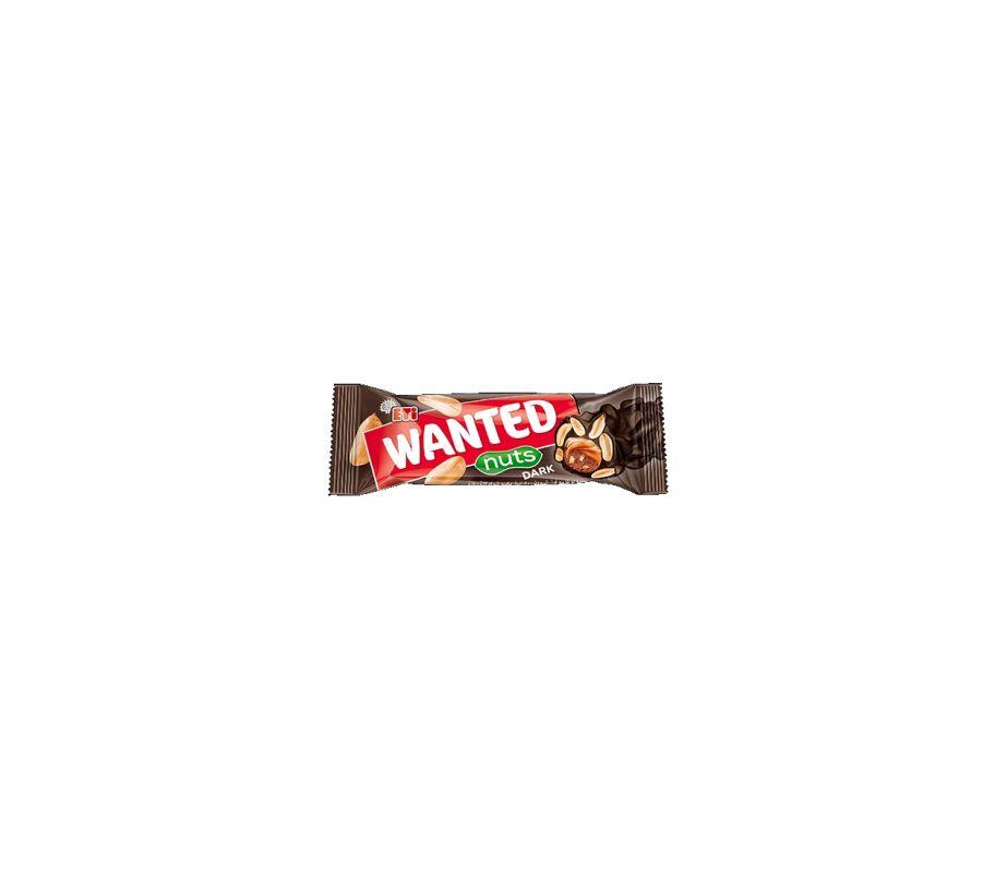 ШБ Шоколадный (черный) батончик + орешки 45гр Wanted nuts dark