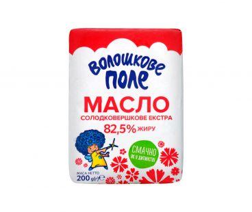 Масло Волошкове Поле сладкосливочное Экстра 82,5% 200г