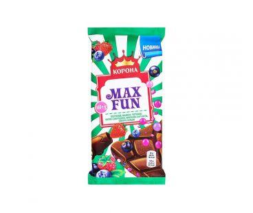 Корона шоколад Max fun фруктово-ягодный 160г