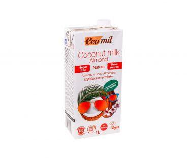 Ecomil Молоко органическое из кокос-миндаль без сахара 1л