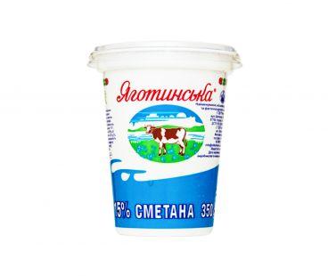 Яготинская сметана 15% стакан 350г