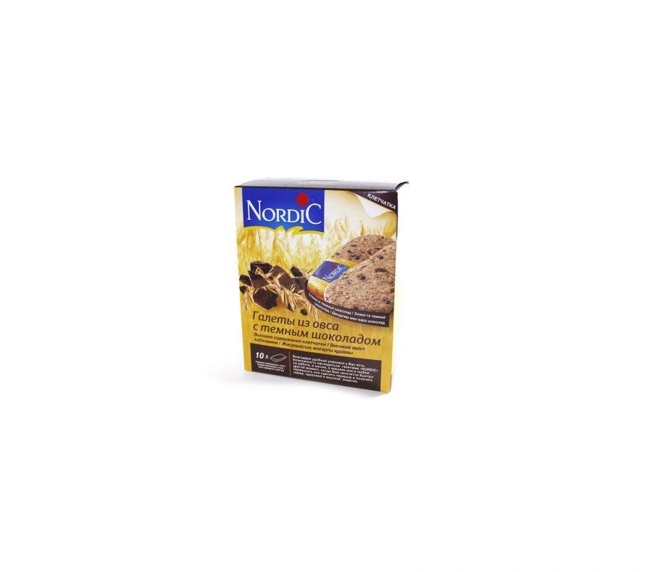 Nordic Галета из овса с темным шоколадом 10*30г