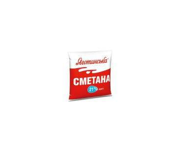 Яготинская сметана 21% п/э 400г
