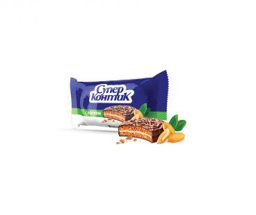 Супер-Контик печенье с шоколадно-молочной глазурью Орех 50г