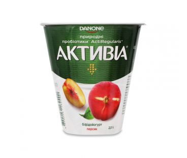 Активия Бифидойогурт персик 2.5% стакан 260г
