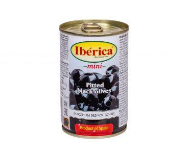 Маслины, оливки Iberica Маслины черные мини без косточки 300г