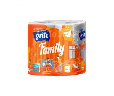 Туалетная бумага GRITE бумага туалетная Family 4шт