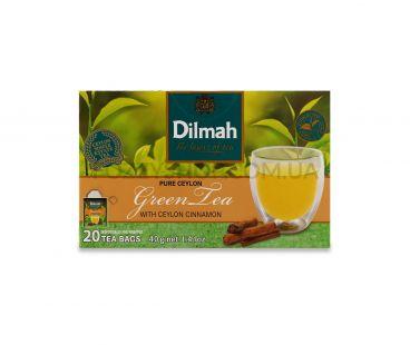 Dilmah Чай зеленый с корицей 20*2г
