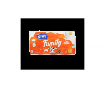Туалетная бумага GRITE бумага туалетная Family 8шт