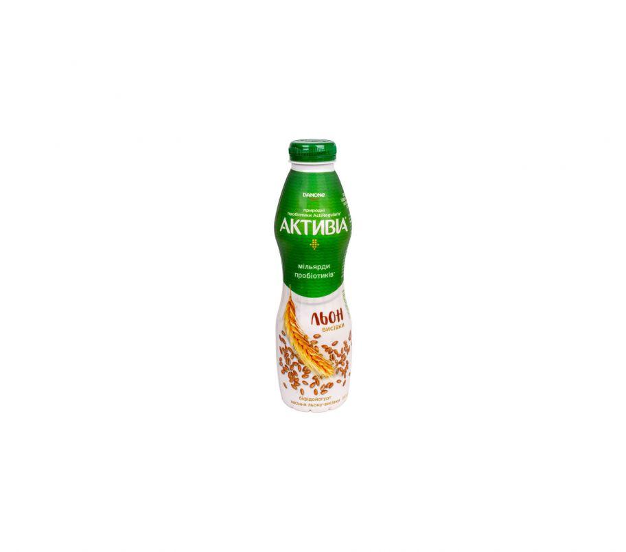 Активия Бифидойогурт 1,5% лён-отруби пет 580 г