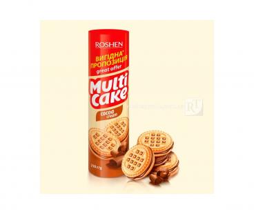 Фасованная продукция Rochen Multicake печенье-сендвич какао 180г