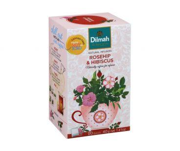 Чай травяной Dilmah Смесь травяная с шиповником 20*1,5г