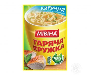 Еда быстрого приготовления Мивина Суп куринный с вермишелью 15 гр