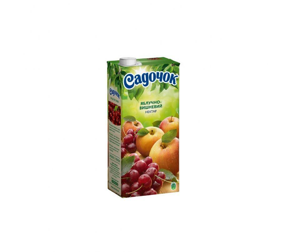Сок Садочек яблоко-вишня т/п 950г