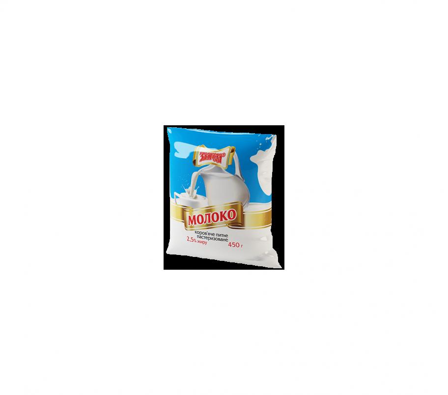 Злагода Молоко пастеризованное 2,5%, 450г