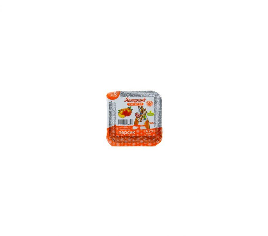 Яготинское для детей творог персик 4.2% 100г