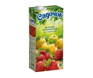 Сок Садочек Яблочно-Клубничный т/п 0,95л