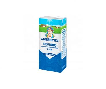 Молоко Словяночка Молоко ультрапастеризованное 2.5%