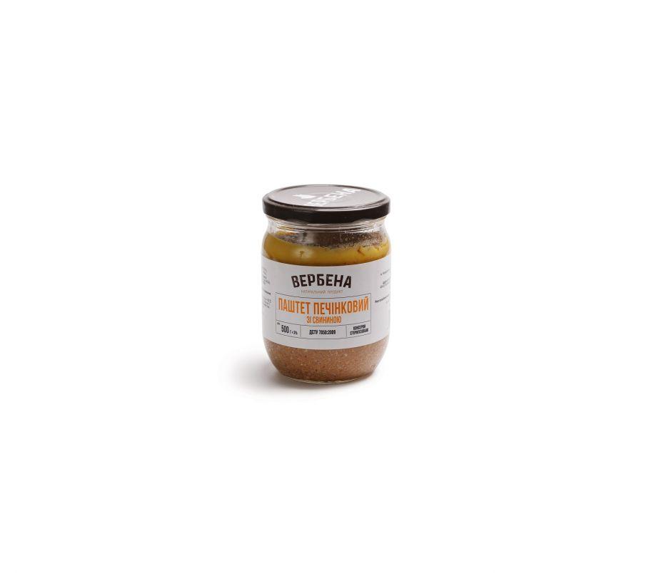 Вербена Паштет печеночный со свининой 500г стекло