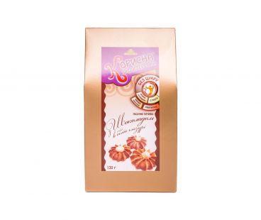 Корисна кондитерська печенье с шоколадом в белой глазури 130г