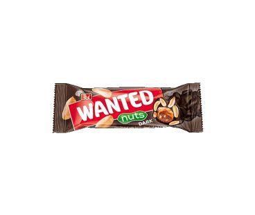 Батончики ШБ Шоколадный (черный) батончик + орешки 45гр Wanted nuts dark