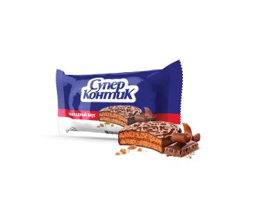 Супер-Контик печенье с шоколадной глазурью 50г