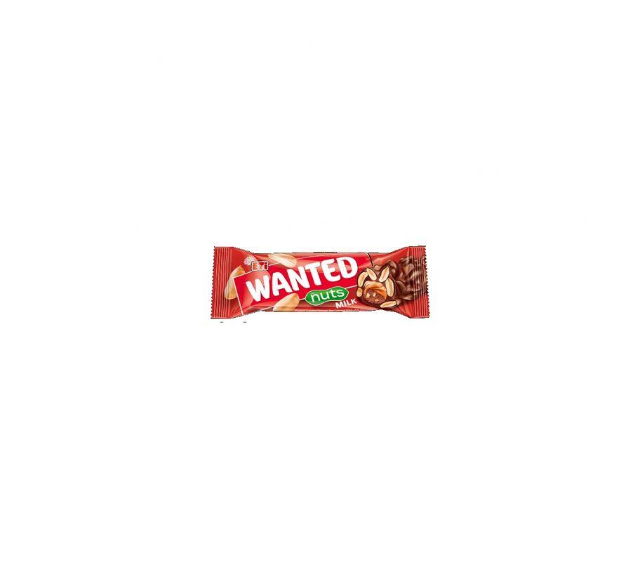 ШБ Шоколадный (молочный) батончик + орешки 45гр Wanted nuts milk