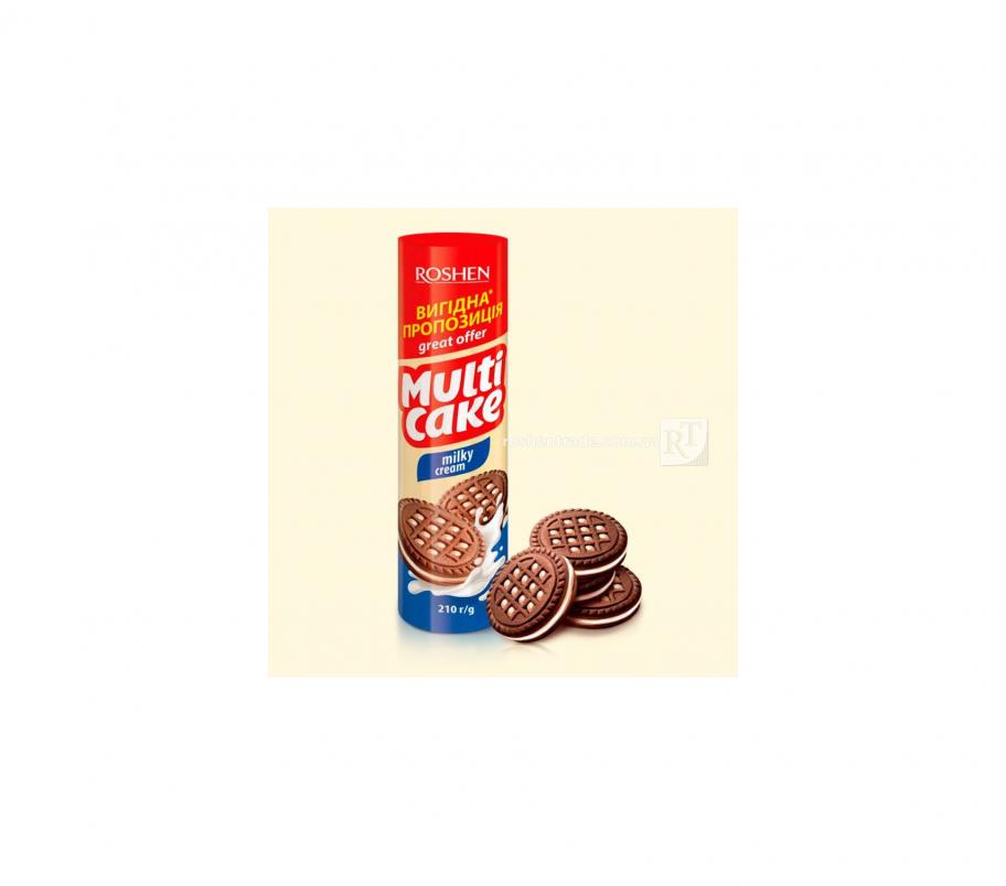 Roshen Multicake печенье-сендвич молочно-кремовой 180г