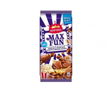 Корона шоколад Max fun мармелад попкорн 160г