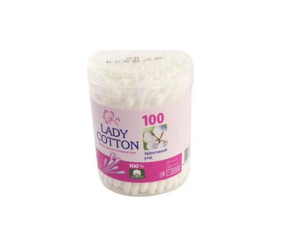 Lady Cotton Палочки ватные в банке 100шт.