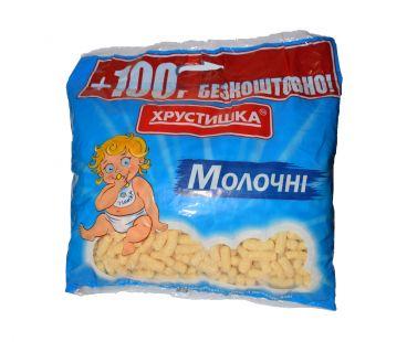 Кукурузные палочки Хрустишка ТМ Палочки кукурузные молочные 450 гр,