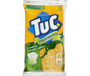 Tuc Крекер соленый со сметаной и луком 21г
