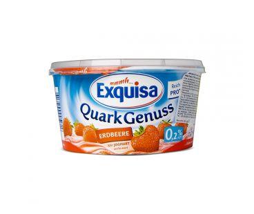 Exquisa Десерт творожный с клубникой 0,2% 500г