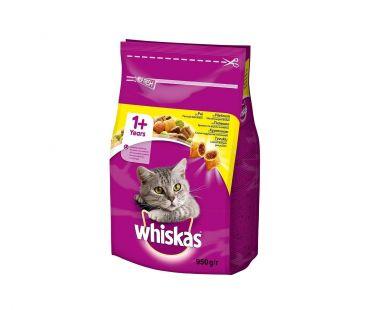 Whiskas Корм для котов с курицей сухой, 950 г.