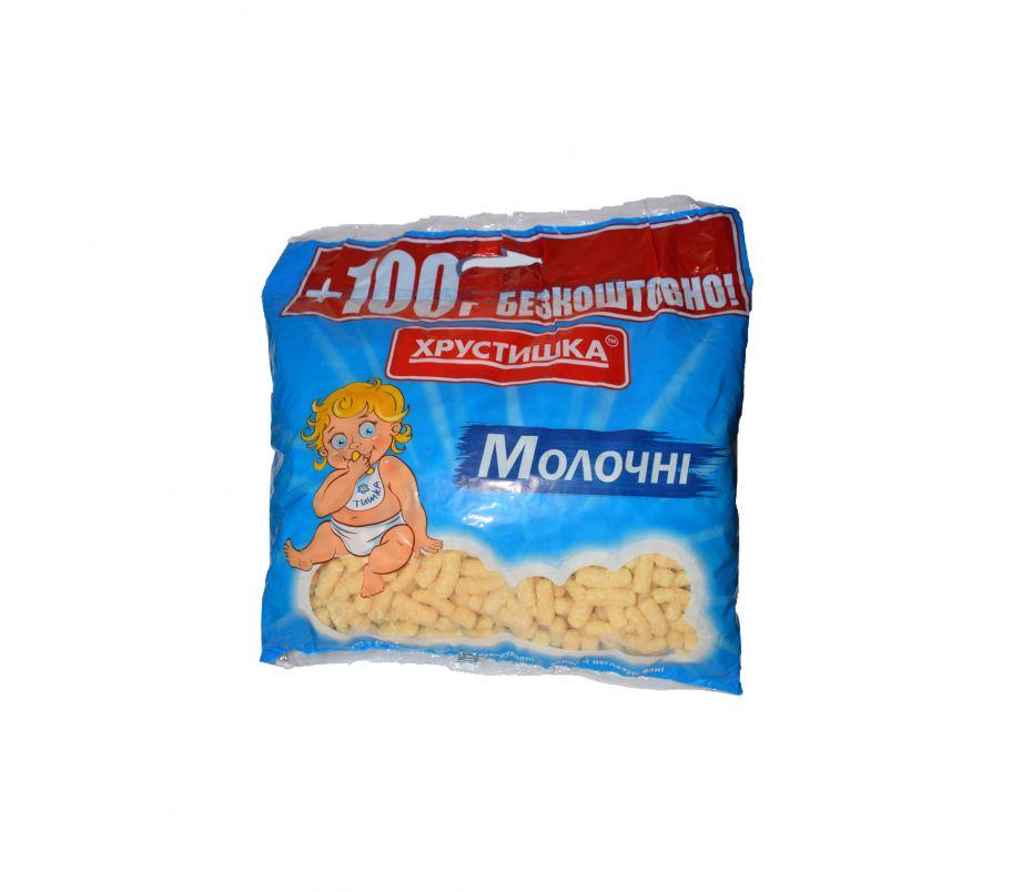 Хрустишка ТМ Палочки кукурузные молочные 450 гр,