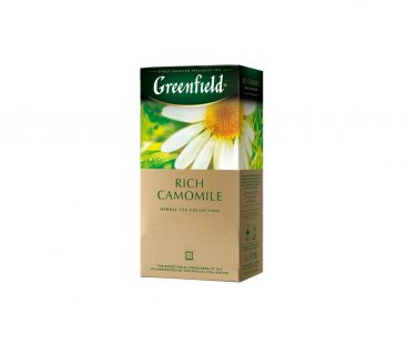Чай травяной пакетированный Гринфилд Greenfield Rich Camomile 25x1,5 г