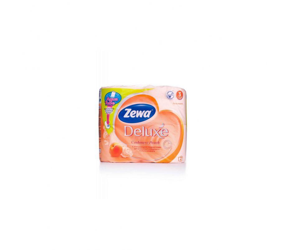Zewa Deluxe Бумага туалетная Персик  4шт