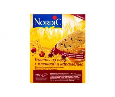Nordic Галета из овса с клюквой и карамелью 10*30г