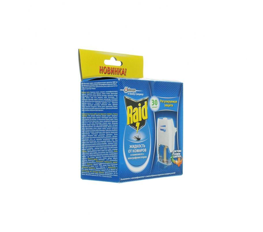 RAID Фумигатор + Жидкость от комаров 30 ночей
