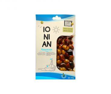 Маслины, оливки Olymp Оливки зеленые с косточной перец-лимон-травы 250г