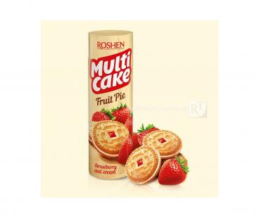 Фасованная продукция Rochen Multicake печенье-сендвич клубника крем 195г